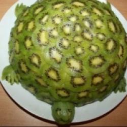 Торт черепаха с киви