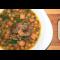 Фото Горохово-чечевичный суп с копчеными ребрышками