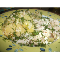 Рецепт: Индейка с картофелем в горшочке для самых маленьких