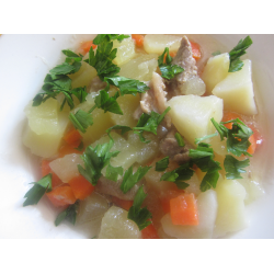 Рецепт: Филе индейки, тушеное с овощами