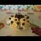 Фото Творожный десерт сбананом и виноградом
