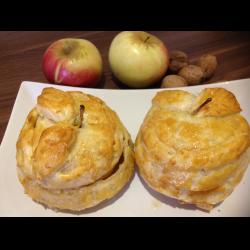 Рецепт: Яблоко в слоеном тесте