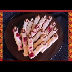 """Рецепт: Песочное печенье """"Ведьмины пальцы"""" на Хэллоуин"""