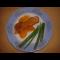 Фото Жареные рыбные ребрышки с соусом из хурмы