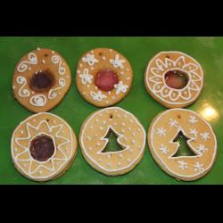 Рецепт: Медовое печенье Новогоднее