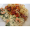 Фото Филе тилапии с креветками в сырно-сметанном соусе