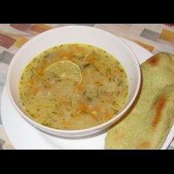 Рецепт: Луковый суп с капустой постный