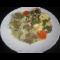 Фото Филе морского языка с овощами под сыром