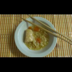 Рецепт: Густой корейский суп Сапсо с курицей