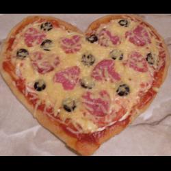 "Рецепт: Пицца ""Валентинка"""