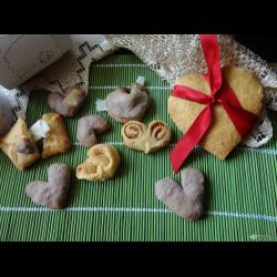 Рецепт: Печенье ко дню Св. Валентина