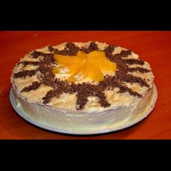 """Рецепт: Торт из готовых коржей """"Солнечный"""""""