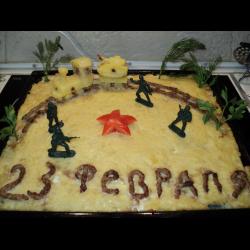 """Рецепт: Картофельная запеканка """"Военный поезд"""""""