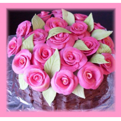 "Рецепт: Торт ""Корзинка с розами"""