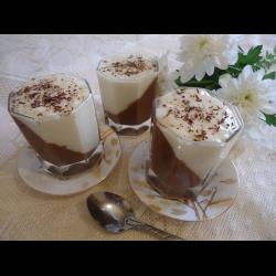 Рецепт: Мусс шоколадно-ванильный