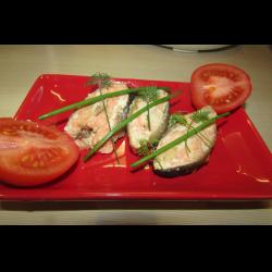 Рецепт: Горбуша в имбирно-соевом маринаде