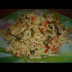 Паэлья с курицей и морепродуктами, пошаговый рецепт с фото