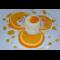 Фото Суфле из йогурта с жареными пряными апельсинами