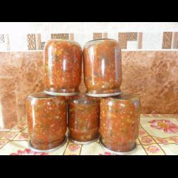 """Рецепт: Грибы в томатном соусе """"Хмели-сунели"""""""