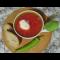 Фото Постный борщ с квашенной капустой и белой фасолью