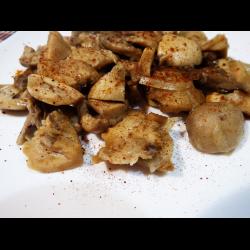 Рецепт: Жареные сыроежки