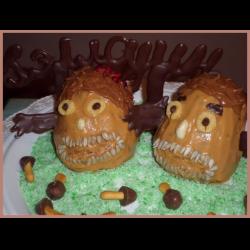 """Рецепт: Десерт """"Бисквитные зубастики"""" на Хэллоуин"""