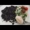 Фото Черный рис нероне с креветочным соусом