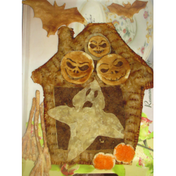 """Рецепт: Пирог из слоеного теста """"Дом с привидениями"""""""