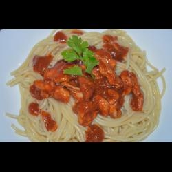 Рецепт: Паста с курицей и томатной пастой