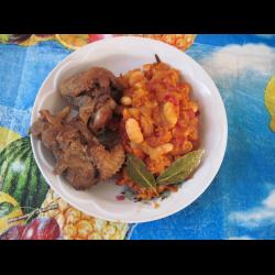 Рецепт: Фасоль с жареными овощами