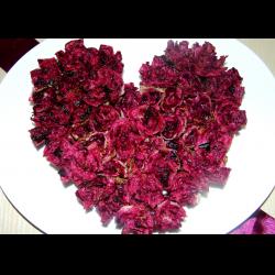 """Рецепт: Легкая закуска ко Дню Святого Валентина """"Цветущее сердце"""""""