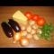 Фото Запеченные овощи с сыром и зеленью