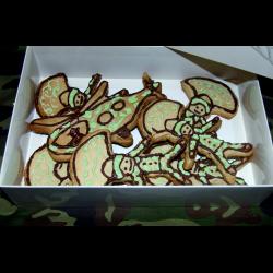 Рецепт: Фигурное печенье ко Дню защитника отечества