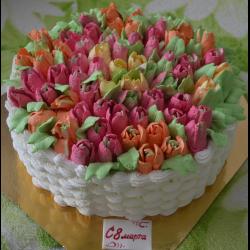 "Рецепт: Торт ""Весенний букет"""
