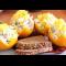 Фото Куриный пикантный салат в апельсине