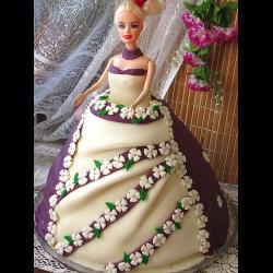 "Рецепт: Торт-кукла ""Принцесса Весна"""