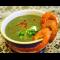 Фото Крем-суп из шпината с креветками