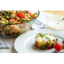 Рецепт: Теплый салат из курицы