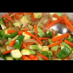 Рецепт: Овощи по-азиатски