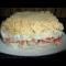Фото Слоеный салат в судочке