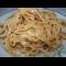 Фото Спаггети с жаренным луком, яйцом и сыром