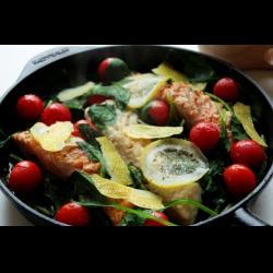 Рецепт: Рыбное ассорти с овощами