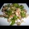 Фото Салат с куриной грудинкой, грибами и кунжутом