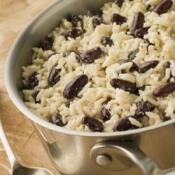 Рецепт: Рис с красной фасолью