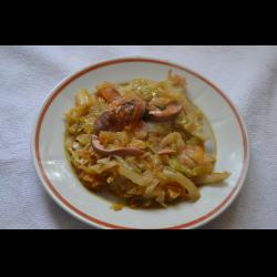 Рецепт: Рагу из сосисок с капустой