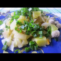 Рецепт: Капуста, тушеная с картофелем и пряностями