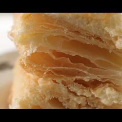 Рецепт: Слоеное бездрожжевое тесто