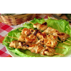 куриный шашлык на сковороде рецепт с фото