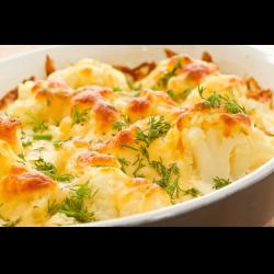 Рецепт: Гарнир из цветной капусты с яйцом