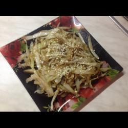 Рецепт: Жареная капуста с кунжутом